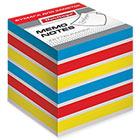 Блок для записей 80х80х80 мм цветной проклеенный Berlingo Rainbow кубик